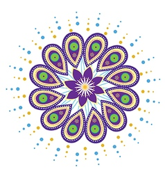 Mandala icon vector