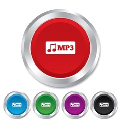Mp3 music format sign icon Musical symbol vector