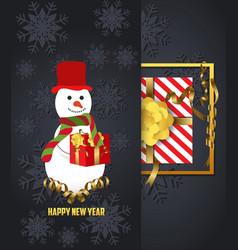 new year 2018 background with christmas confetti vector image