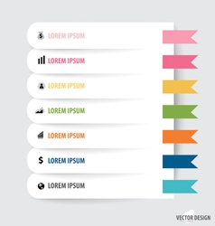 Note paper modern infographics banners vector image