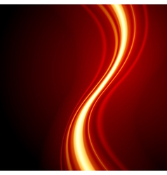 Orange smooth waveform background vector image vector image