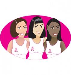 pink cancer symbol vector image