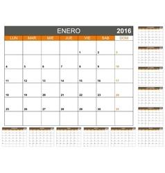 Planning calendar 2016 vector