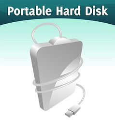 portable hard disc vector image