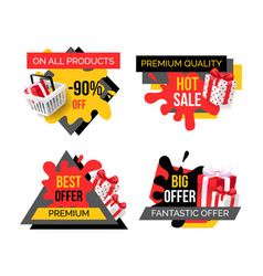 Premium quality products sale exclusive offer vector