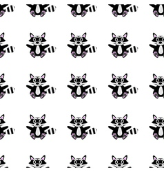 Racoon pattern vector image