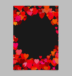 random heart page background design - love vector image
