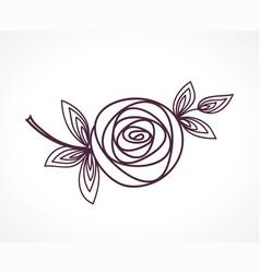 rose stylized flower symbol vector image