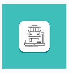 Round button for business marketplace vector