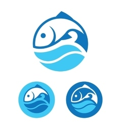 Round Fish Icon vector image