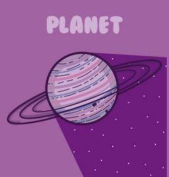 Saturn milkyway planet vector