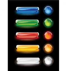 Set of buttons vector
