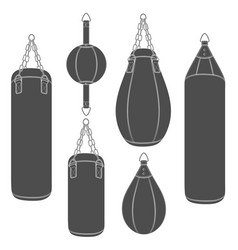 Set of with punching bag vector