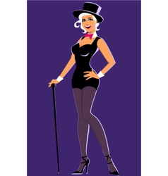 Showgirl vector image