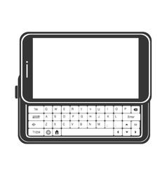 smartphone screen mobile keyboard vector image