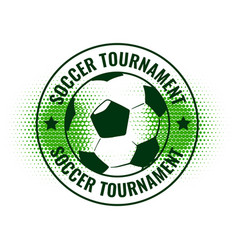 soccer tournament abstract label design vector image