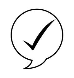 Speech buble isolated icon vector