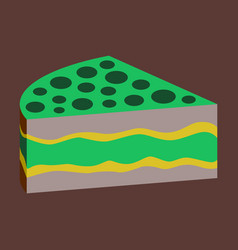 Sweet dessert in flat design cake vector
