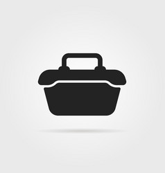 tool or food container black icon vector image