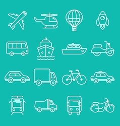 Transportation icons and signs vector