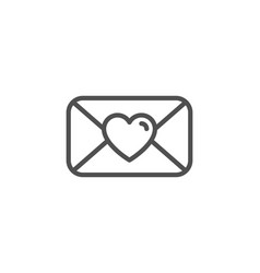 valentines day mail icon love letter symbol vector image
