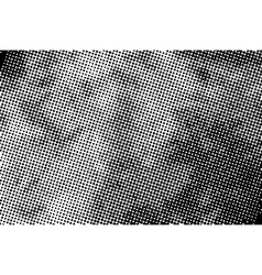 Vintage grunge halftone ink print horizontal vector image