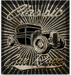 Vintage old car retro style vector