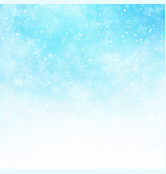 winter white and blue sky background christmas vector image