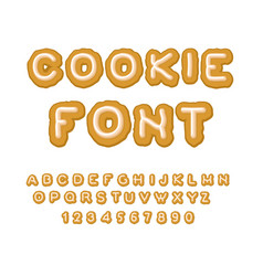 cookie font christmas gingerbread alphabet mint vector image