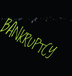Kw bankruptcy text background word cloud concept vector