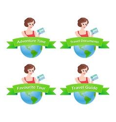 Set of Travel emblem vector image vector image