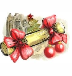 christmas cracker vector image