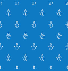 christmas new year seamless pattern with snowman vector image vector image