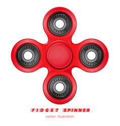 hand fidget spinner stress-relieving toy vector image