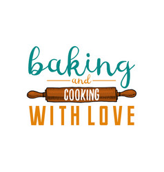 rolling pin or kitchen cooking stuff for menu vector image