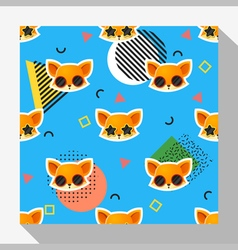 Animal seamless pattern collection with fox 8 vector
