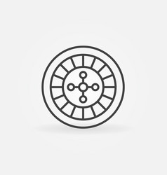 Roulette linear icon vector