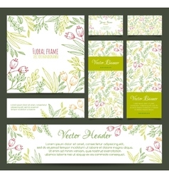 Set of banners business card frame invitations vector image vector image
