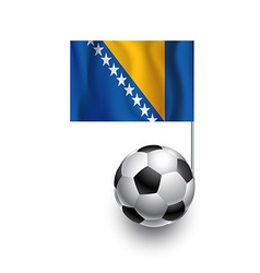 Soccer Balls or Footballs with flag of Bosnia and vector image