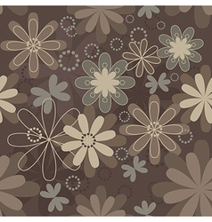 vintage art flower vector image vector image