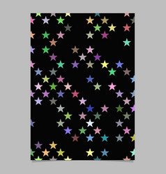 abstract pentagram star pattern brochure vector image