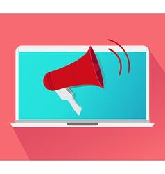 Advertise business concept megaphone vector