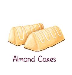 Almond cakes vector