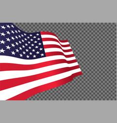 american flag waving in wind vector image