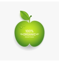 apple label vector image