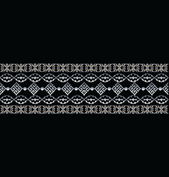baroque seamless border baroque repeat pattern vector image