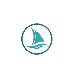 boat yacht logo vector image