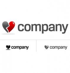 Broken heart logo vector
