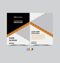 business brochureposterflyercover design layout vector image
