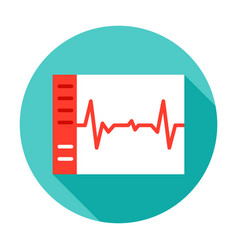 cardiogram circle icon vector image